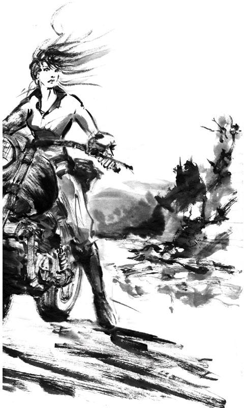 バイクの女性