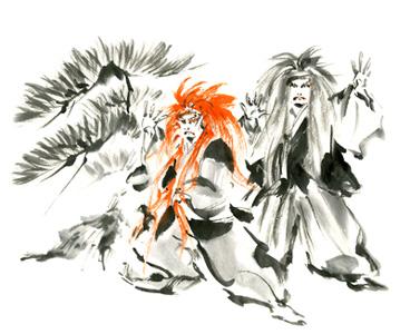 連獅子イラスト