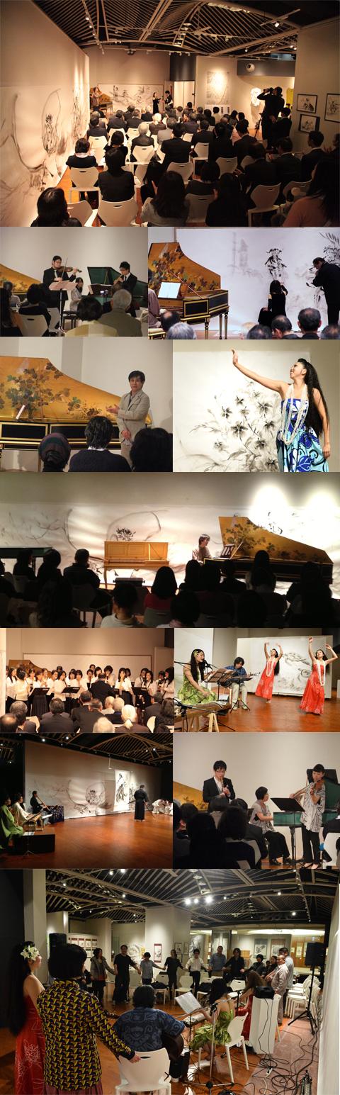 水墨画 イベント 音楽 ダンス