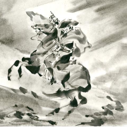 ナポレオン 墨絵